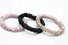 3 silk scrunchies for all hair types